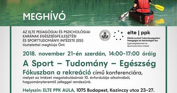 I. ELTE Sport – Tudomány – Egészség konferencia